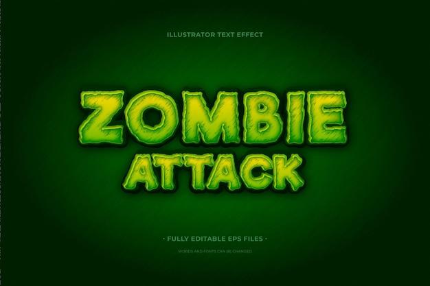 Effetto zombi effetto testo Vettore gratuito