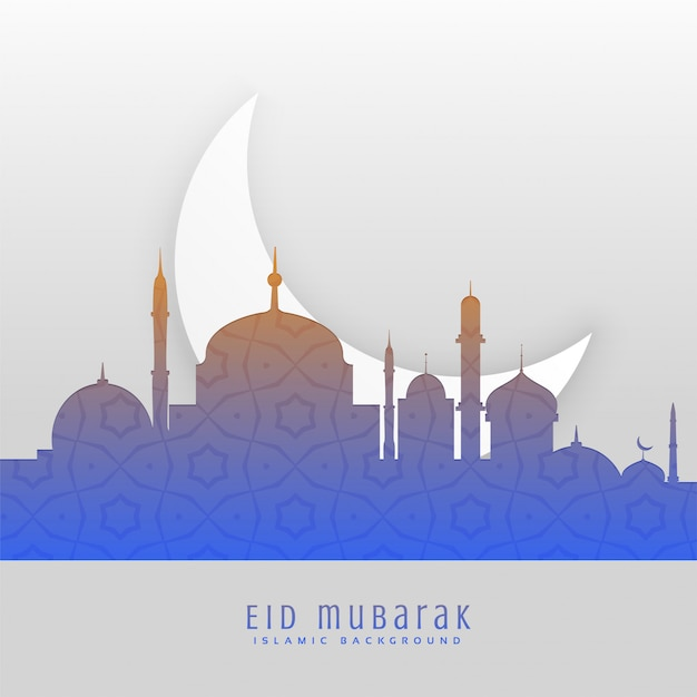 Eid festival bellissimo saluto scena sfondo Vettore gratuito
