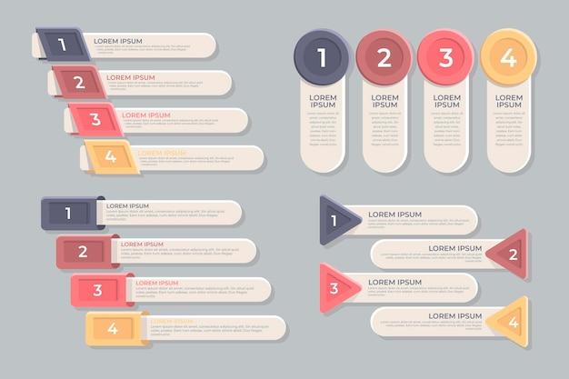 Elaborazione infografica Vettore gratuito
