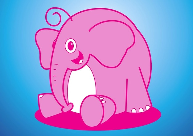 Elefante vettore cartone animato scaricare vettori gratis