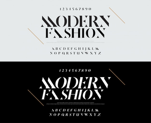 Elegante alfabeto lettere font. moda tipografia Vettore Premium