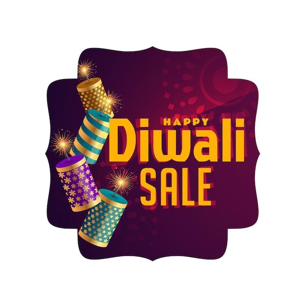 Elegante banner di celebrazione di vendita di diwali Vettore gratuito