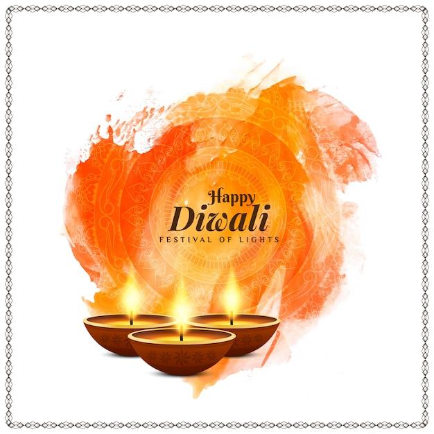 Elegante bella felice diwali festival sfondo Vettore gratuito