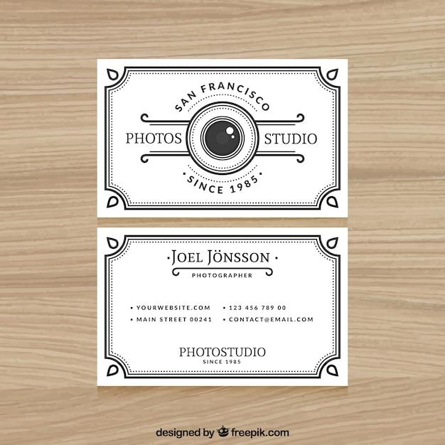 Conosciuto Elegante biglietto da visita bianco per la fotografia | Scaricare  BY36
