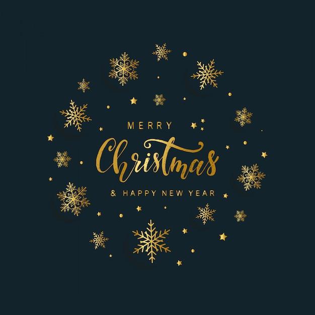 Immagini Auguri Di Natale E Buon Anno.Elegante Biglietto Di Auguri Di Buon Natale E Felice Anno Nuovo