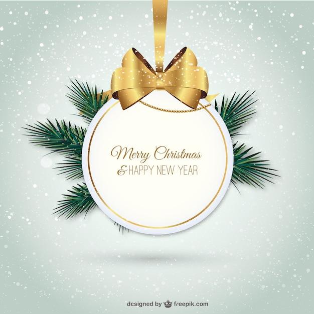 Sfondi Natalizi Eleganti.Elegante Buon Natale Etichetta Scaricare Vettori Gratis