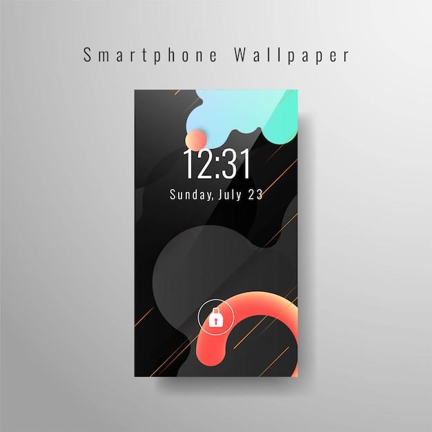 Elegante carta da parati per smartphone alla moda Vettore gratuito