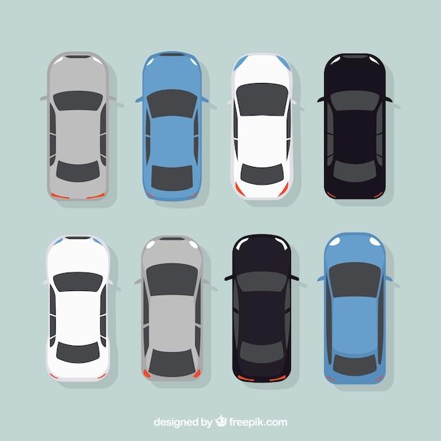 Elegante collezione di automobili Vettore gratuito