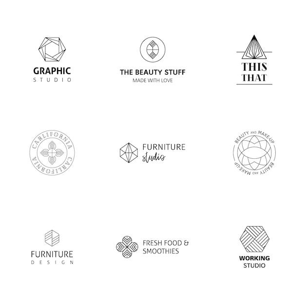 Elegante collezione di logo Vettore gratuito