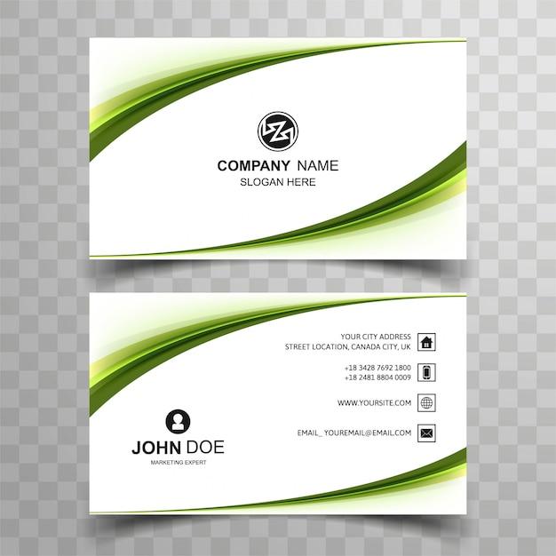 Elegante design creativo modello di biglietto da visita Vettore Premium