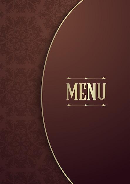 Elegante design della copertina del menu Vettore gratuito