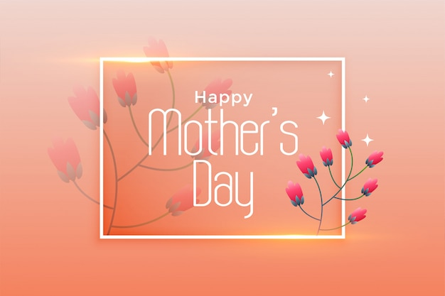 Elegante design di poster festa della mamma felice Vettore gratuito