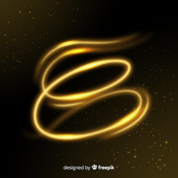 Elegante effetto spirale dorata lucida Vettore gratuito