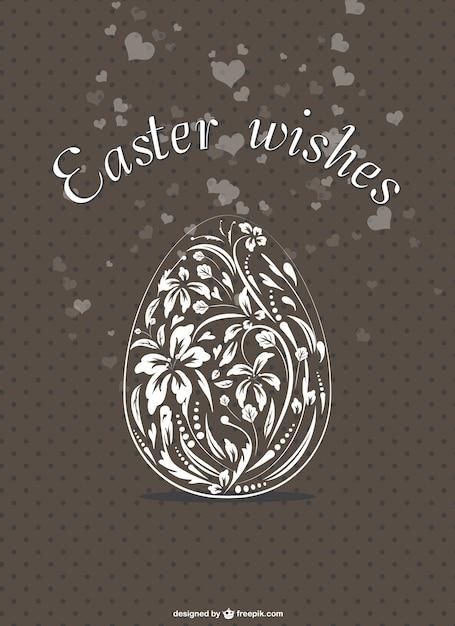 Elegante floreale carta dell 39 uovo di pasqua scaricare - Modello di uovo stampabile gratuito ...