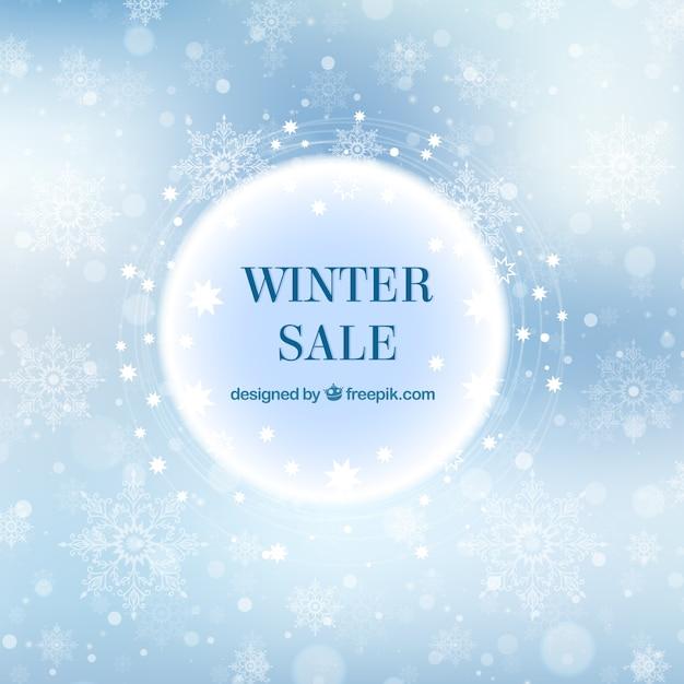 Elegante inverno vendita sfondo Vettore gratuito