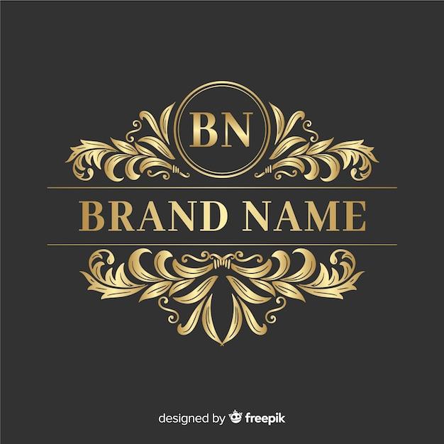 Elegante logo ornamentale Vettore gratuito