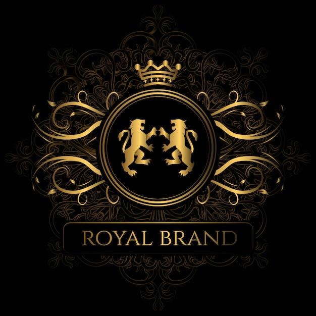 Elegante marchio reale del marchio Vettore gratuito