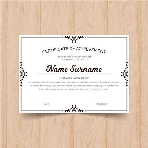 Elegante Modello Di Certificato Con Cornice Ornamentale Scaricare