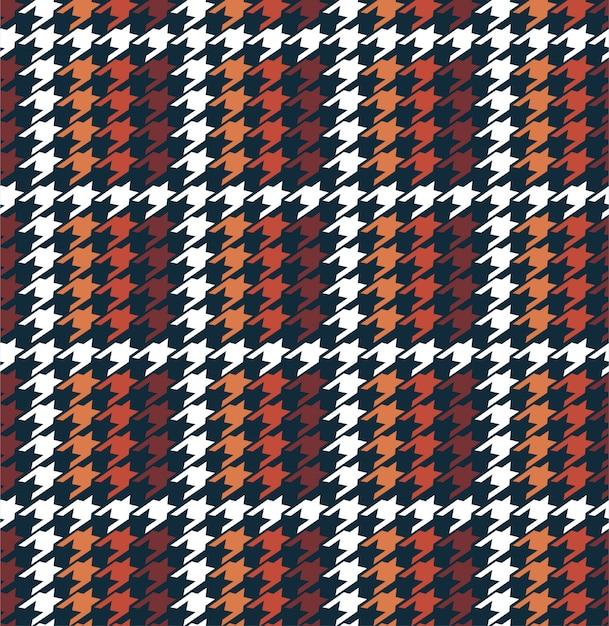 Elegante pied de poule a griglia invernale a forma di scacchi senza cuciture nel vettore, design per moda, tessuto, carta da parati, ordito e tutti i tipi di grafica Vettore Premium