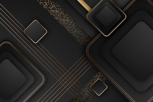 Elegante screensaver con dettagli dorati Vettore gratuito