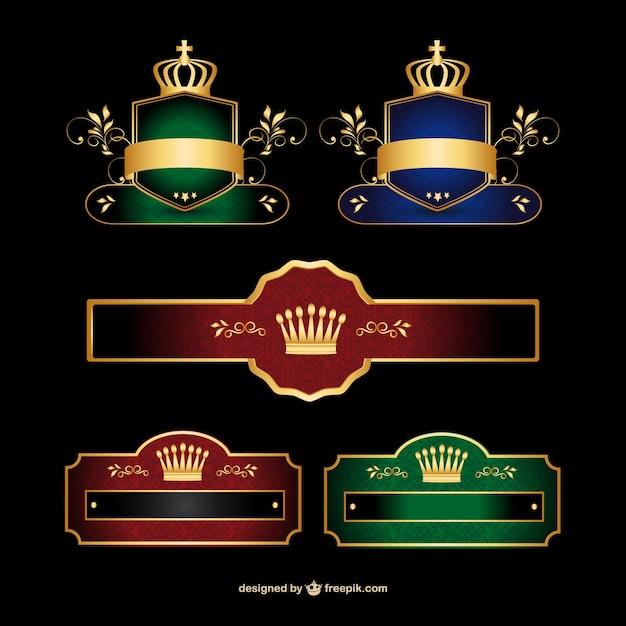 Elegante set di banner logo vettoriale Vettore gratuito
