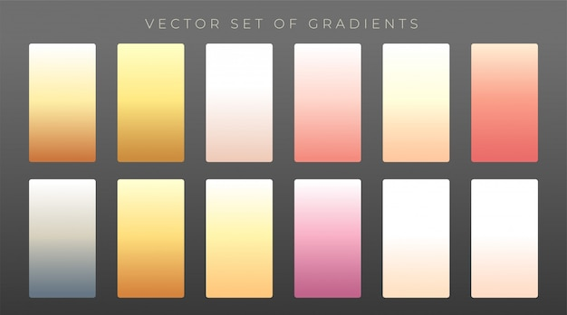 Elegante set di gradienti premium Vettore gratuito