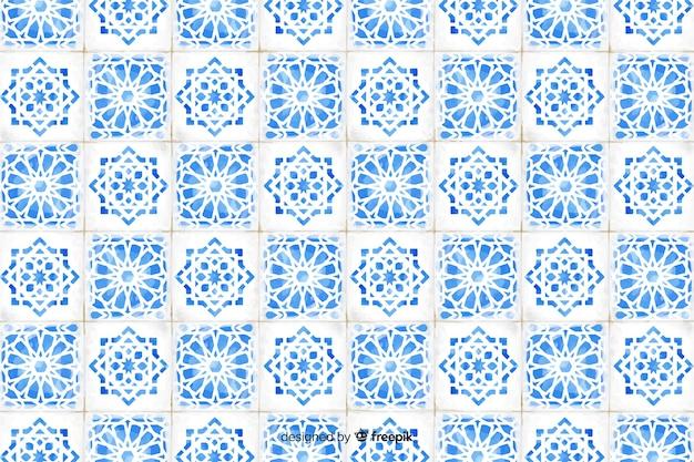 Elegante sfondo a mosaico ad acquerello Vettore gratuito