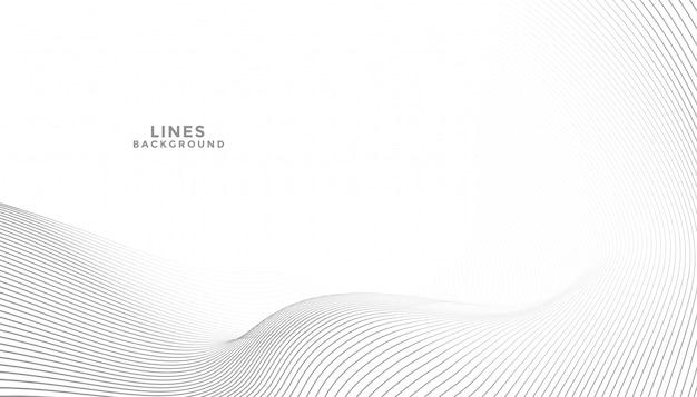 Elegante sfondo astratto con linee fluide onda Vettore gratuito
