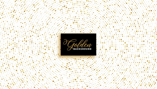 Elegante sfondo bianco con effetto glitter dorato Vettore gratuito