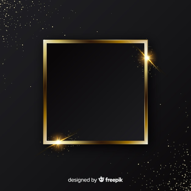 Elegante sfondo dorato scintillante cornice Vettore gratuito