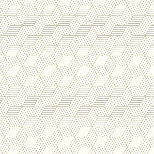 Elegante sfondo esagonale linea pattern Vettore Premium