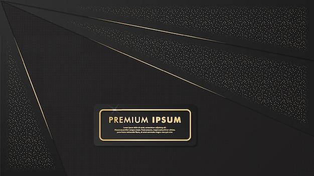 Elegante sfondo nero e dorato Vettore Premium
