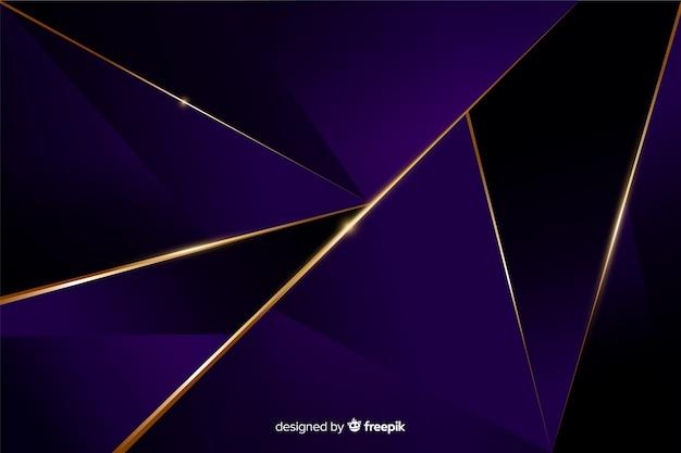 Elegante sfondo poligonale scuro Vettore gratuito