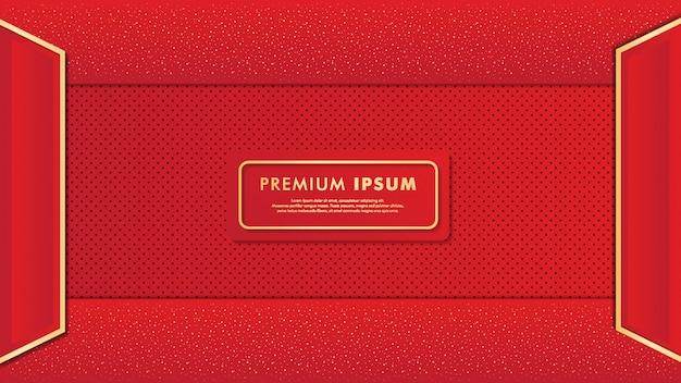 Elegante sfondo rosso Vettore Premium