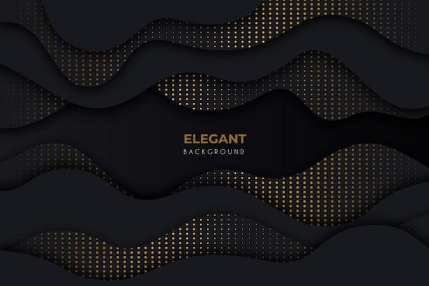 Elegante sfondo scuro con dettagli dorati Vettore gratuito