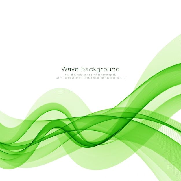 Elegante sfondo vettoriale onda verde Vettore gratuito