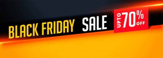 Elegante striscione di vendita venerdì nero con dettagli dell'offerta Vettore gratuito
