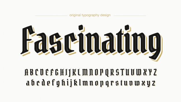 Elegante tipografia personalizzata nera Vettore Premium