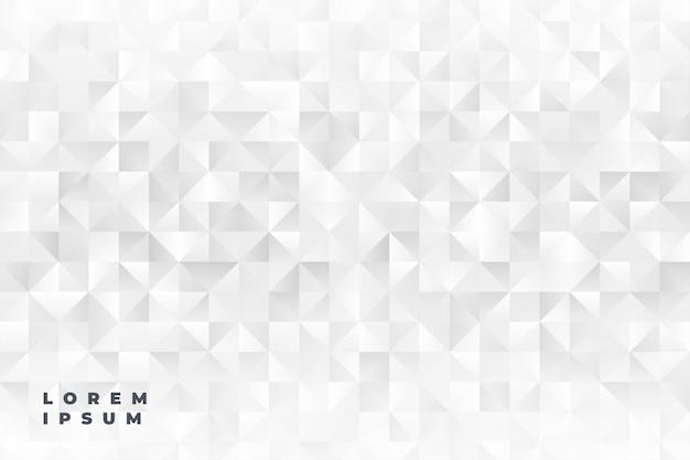Elegante triangolo bianco forme di sfondo Vettore gratuito