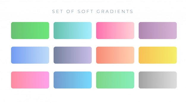 Eleganti campioni sfumati di colore morbido Vettore gratuito