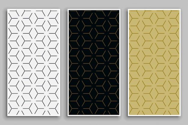Eleganti motivi minimal con colori ad albero Vettore gratuito