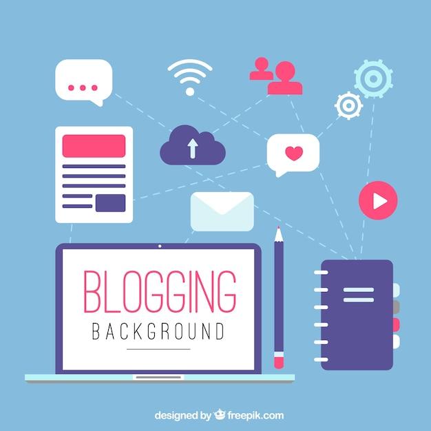 Elementi blog Vettore gratuito