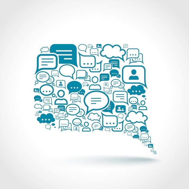Elementi chat Vettore gratuito
