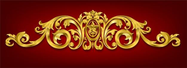 Elementi decorativi classici in stile barocco Vettore Premium