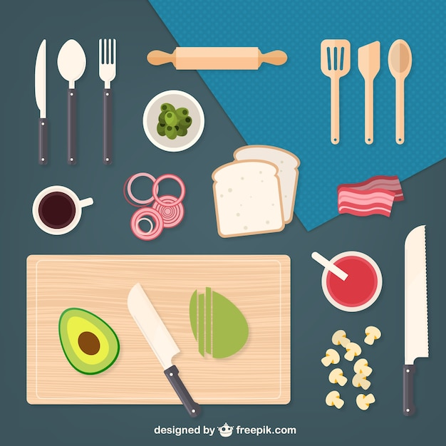 Elementi della cucina e gli ingredienti scaricare - Come pulire gli scarichi della cucina ...