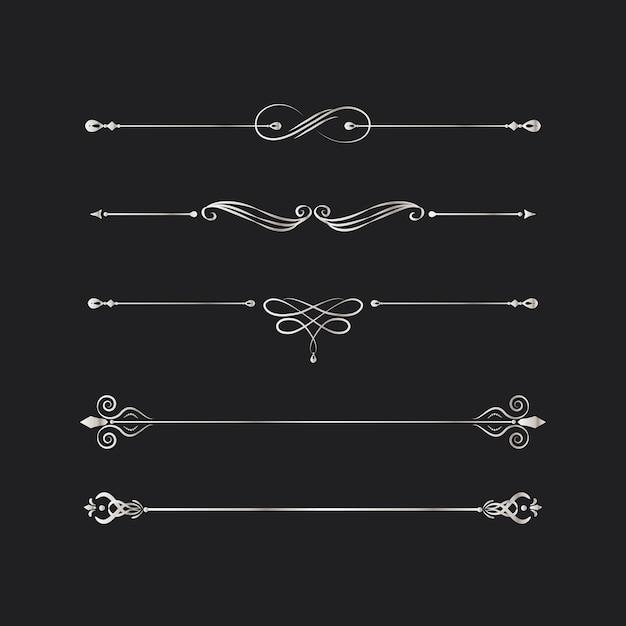 Elementi di design di turbinio d'epoca Vettore gratuito