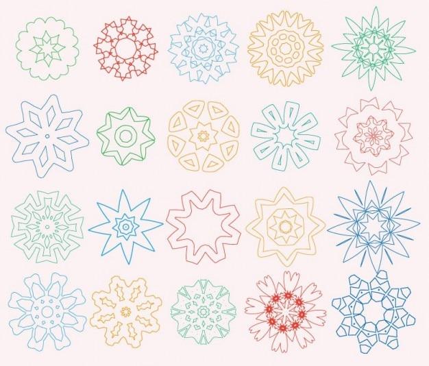Elementi di design fiore scaricare vettori gratis for Elementi di design