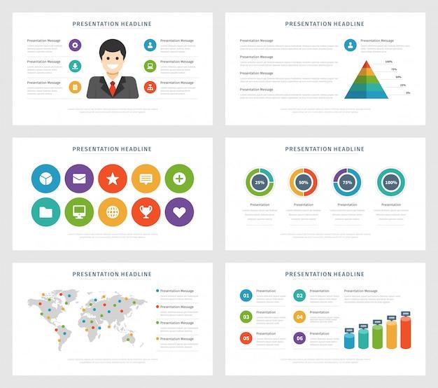 Elementi di design infografico di illustrazione vettoriale design piatto Vettore Premium