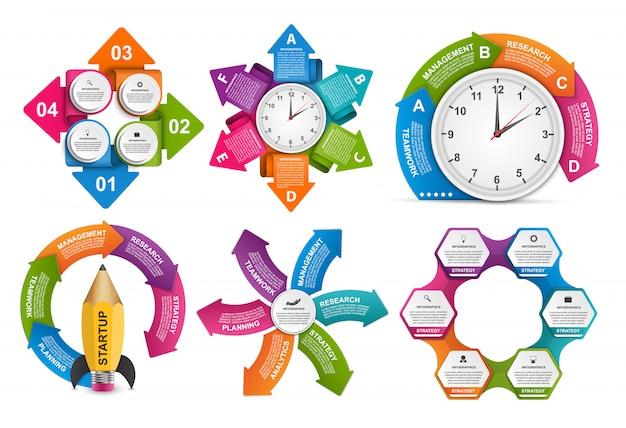 Elementi di design per inbfographic Vettore Premium