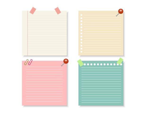 Elementi di design per notebook. Vettore Premium
